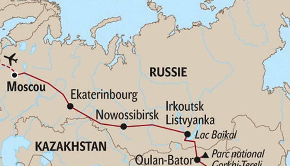 LE TRANSSIBERIEN DE MOSCOU à PEKIN